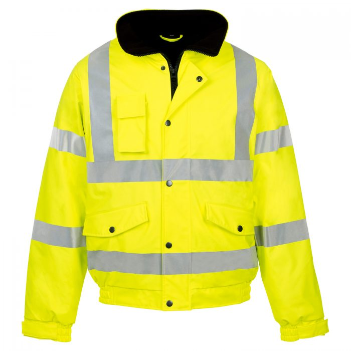 HI VIZ VIS VISIBILITY PADDED HOODED-Orange-Orange & Navy-Yellow Navy-Yelloow