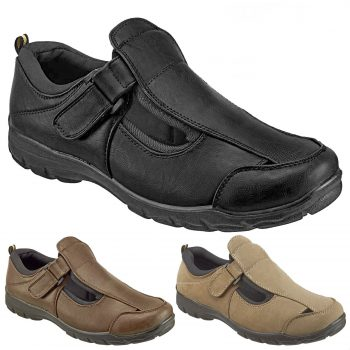 DR KELLER MENS WIDE FIT SANDALS