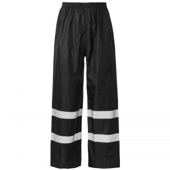 HI VIS VISIBILITY VIZ OVER TROUSERS Black