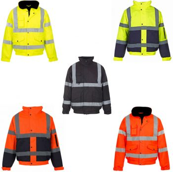 HI VIZ PADDED HOODED BOMBER JACKET