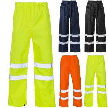 HI VIS VISIBILITY VIZ OVER TROUSERS