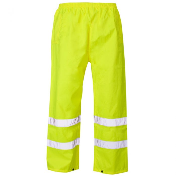 HI VIS VISIBILITY VIZ OVER TROUSERS-Yellow