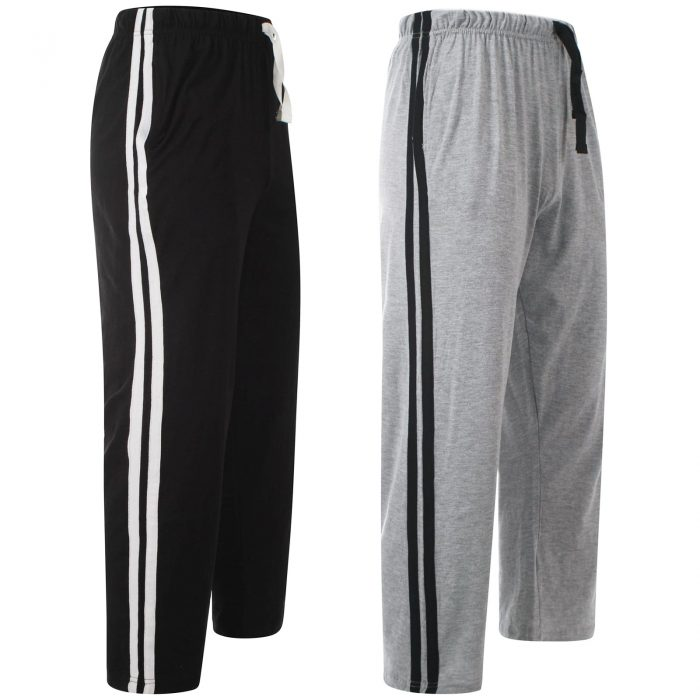 Men Lounge Pants Black Grey