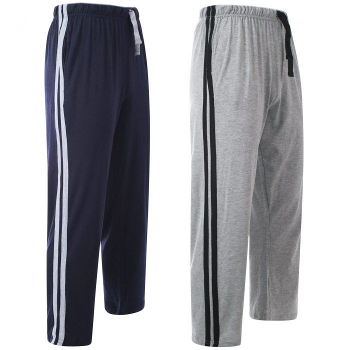 Men Lounge Pants Navy Grey