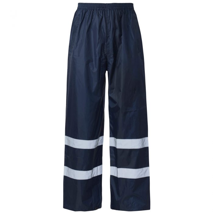 HI VIS VISIBILITY VIZ OVER TROUSERS-Navy