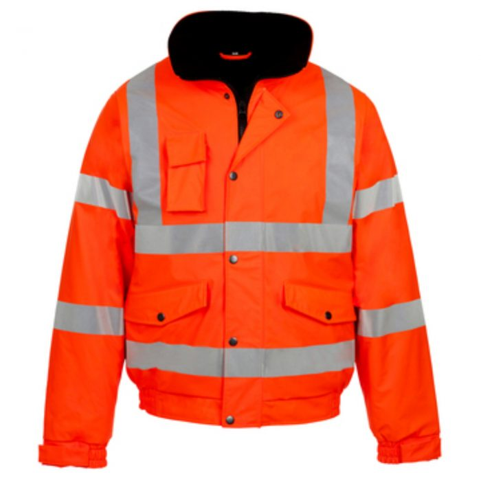 HI VIZ VIS VISIBILITY PADDED HOODED-Orange