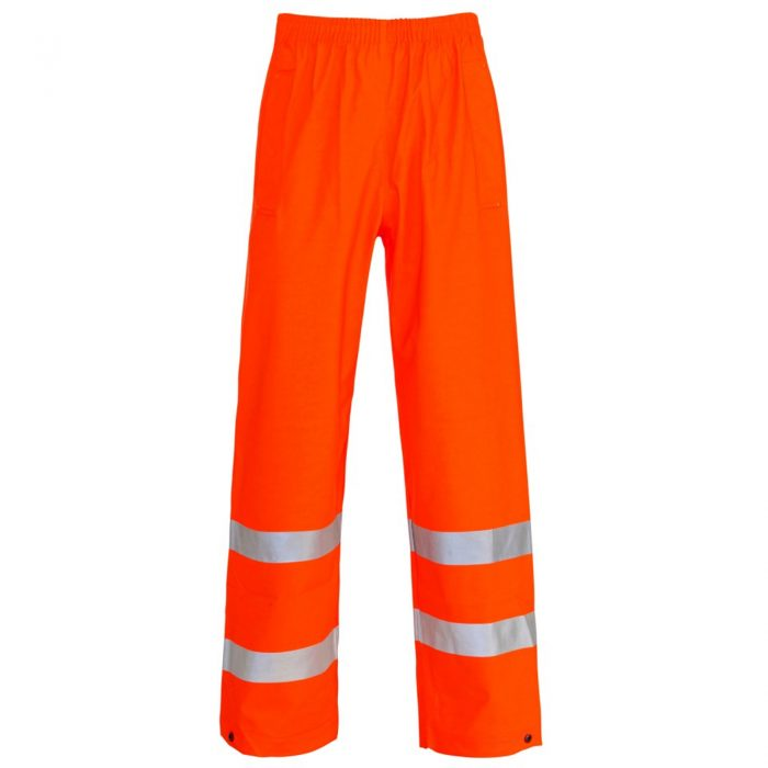 HI VIS VISIBILITY VIZ OVER TROUSERS-Orange
