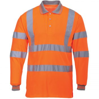 Polo Shirts Orange Long Sleeve