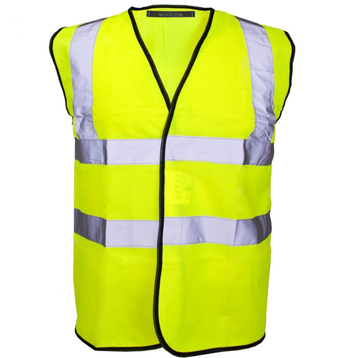 HI VIZ VIS VISIBILITY WAISTCOAT JACKET-Vest orange 2017-Vest Orange Navy 2017-Vest orange yellow 2017-Vest yellow 2017