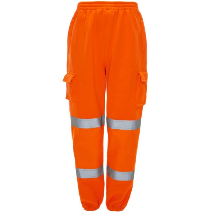 HI VIZ VIS JOGGING BOTTOMS THICK TROUSERS Orange
