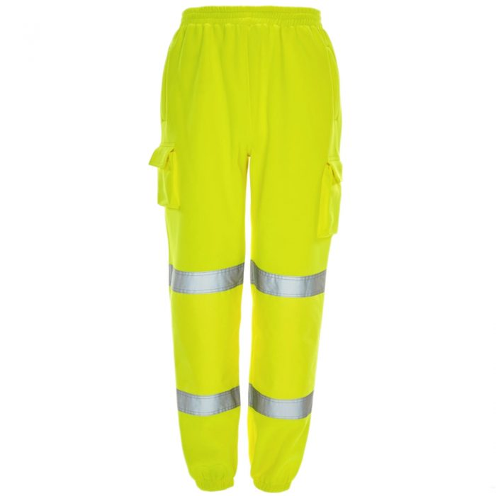 HI VIZ VIS JOGGING BOTTOMS THICK TROUSERS Yellow