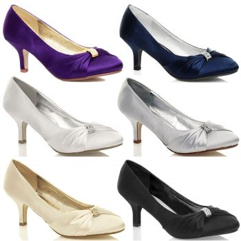 WOMEN'S BRIDAL SATIN HEEL