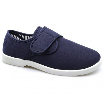 New Dr Keller Mens Canvas Shoes Wide Fit Deck Pumps Padded Plimsolls Espadrilles Myshoestore Navy Rob