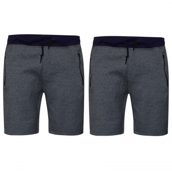 2 PACK MENS JOGGING SWEAT COMFY SHORTS NAVY