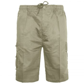 2016 Men Cargo Shorts Zip Beige 1