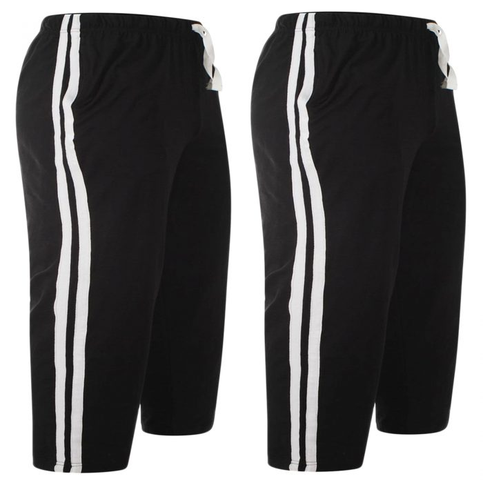 2pack-MEN'S CASUAL LOUNGE SHORTS-Black 2