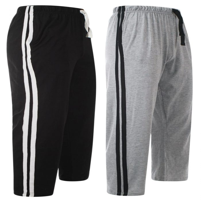 2pack-MEN'S CASUAL LOUNGE SHORT-Black Grey