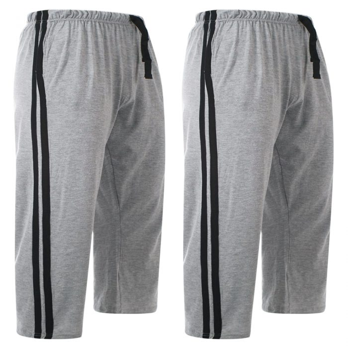 2pack-MEN'S CASUAL LOUNGE SHORTS-Grey 2