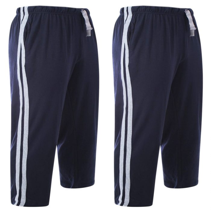 2pack-MEN'S CASUAL LOUNGE SHORT-Navy 2