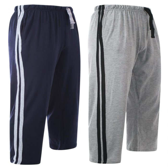 2pack-MEN'S CASUAL LOUNGE SHORT-Navy Grey