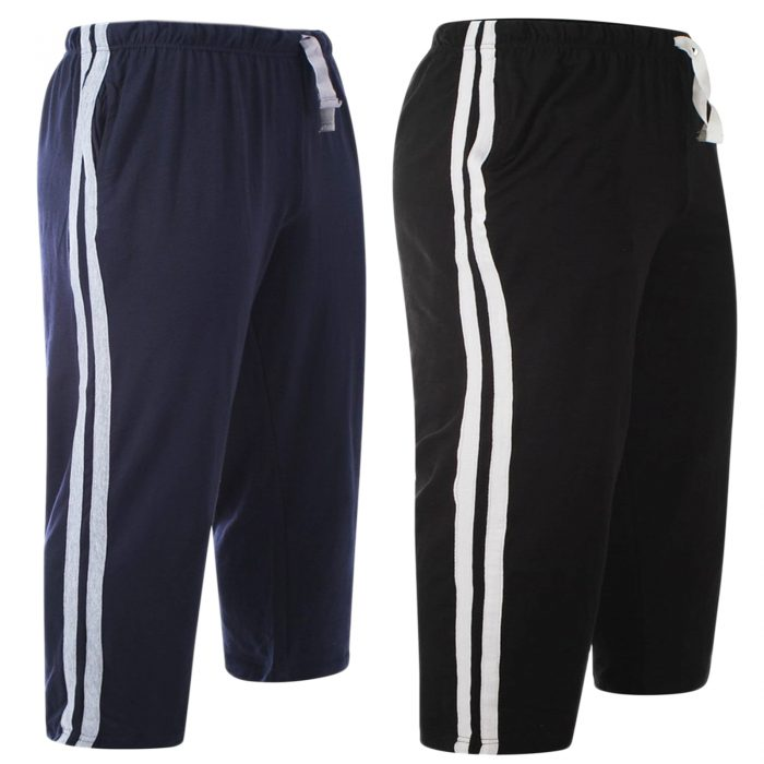 2pack-MEN'S CASUAL LOUNGE SHORT-Navy-black