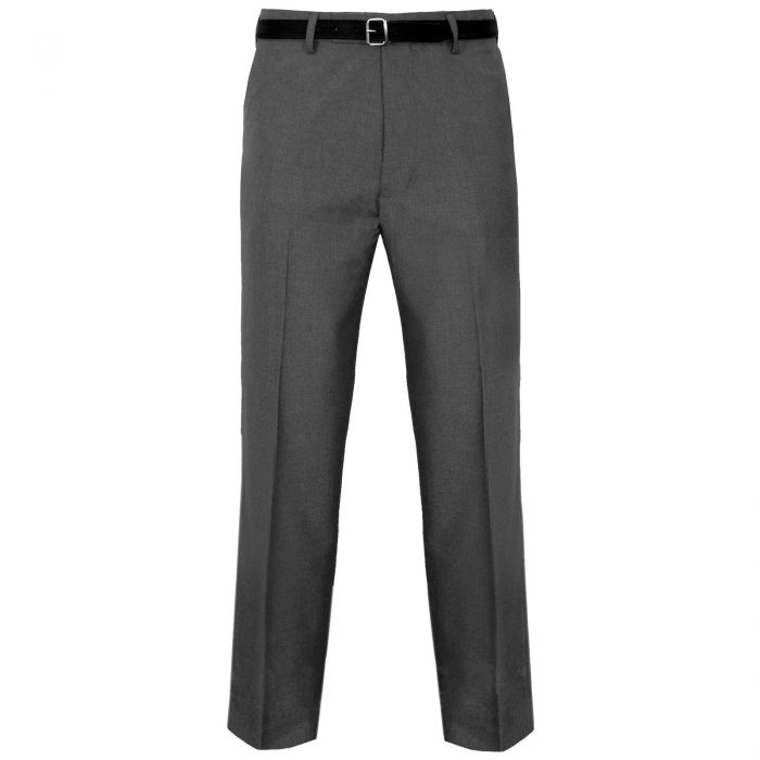 MENS TROUSERS OFFICE BUSINESS WORK FORMAL CASUAL SMART BELT POCKET BIG PLUS SIZE-grey