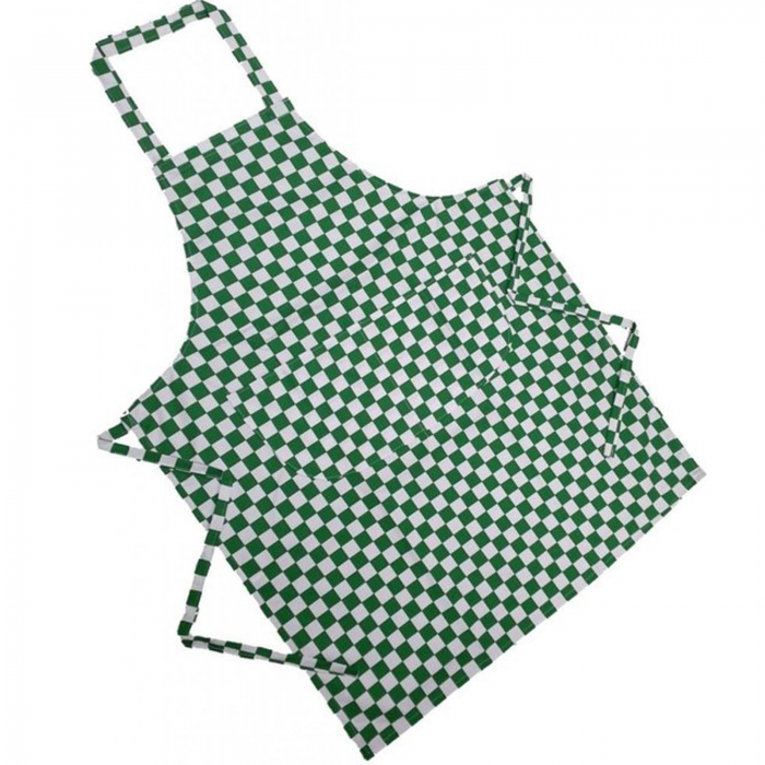 ADULT CHECK APRONS-green