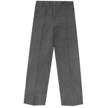 BOYS KIDS SCHOOL UNIFORM ADJUSTABLE  HALF ELASTICATED WAIST TROUSER Grey