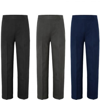 BOYS SCHOOL UNIFORM PULL UP TROUSERS
