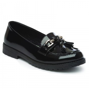 GIRLS BLACK AVA PATENT SHOES