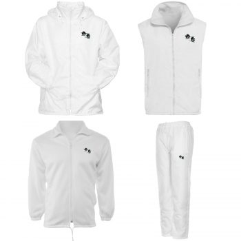 UNISEX BOWLING WHITE JACKETS TROUSERS
