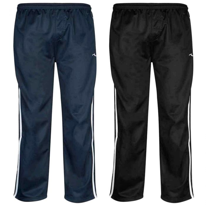 Boys TRACKSUIT BOTTOMS SILKY JOGGERS JOGGING STRIPED TROUSERS-Silky-Pants-Main