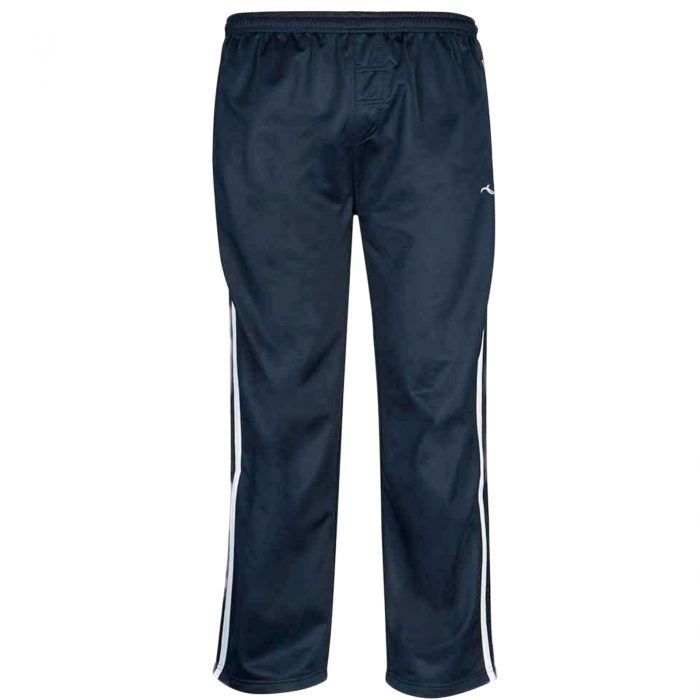 Boys TRACKSUIT BOTTOMS SILKY JOGGERS JOGGING STRIPED TROUSERS- Silky Pants Navy