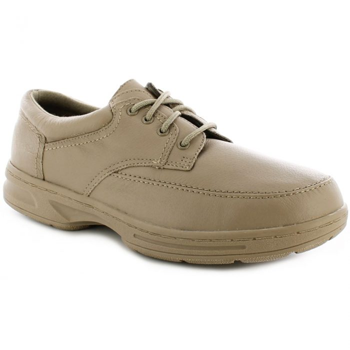 Dr Keller Mens Wide Fit Shoes-Brian-Taupe