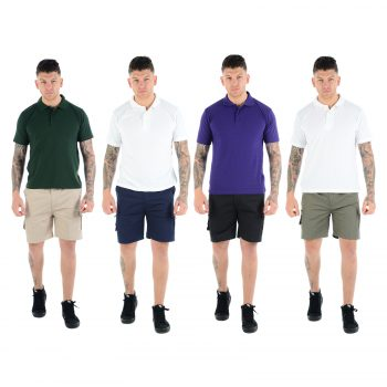 MEN'S PLAIN CARGO COMBAT SHORTS
