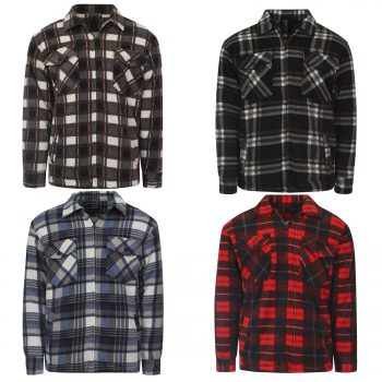 MENS PADDED COLLAR CHECK SHIRT