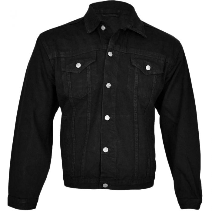 Denim Jeans Jacket-black