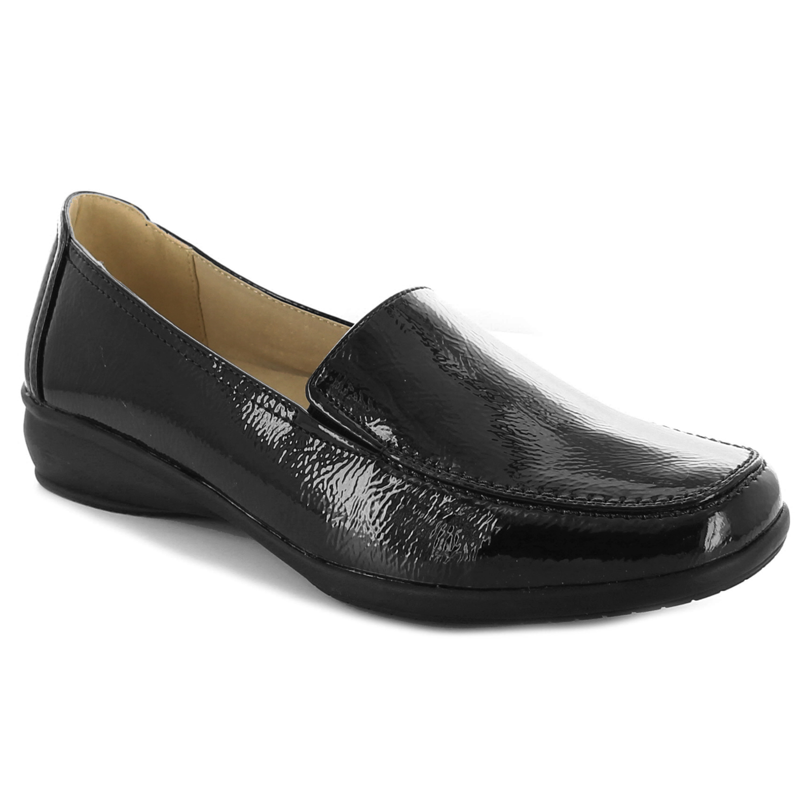 Womens Wide Fit Loafer Shoe in Black by Dr Keller Sally