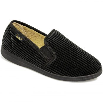 Dr Keller Slippers Cord Black