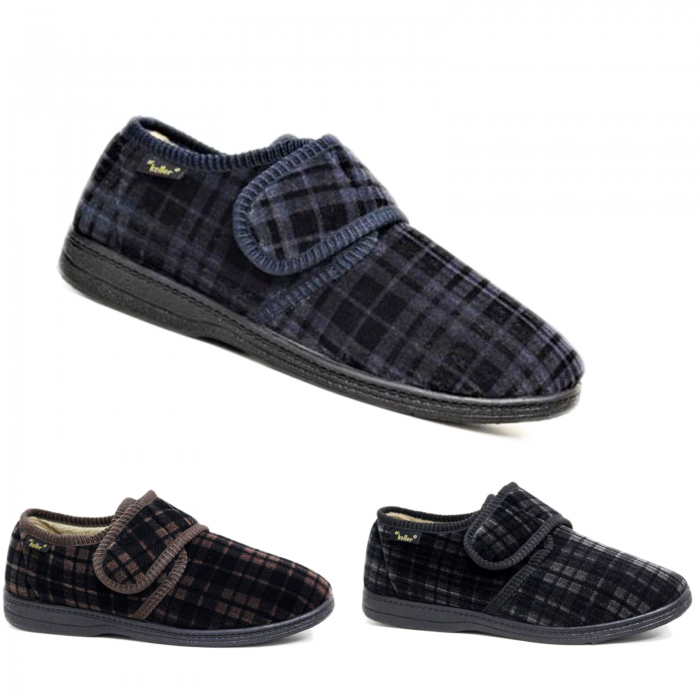 Dr-Keller-Slippers-brown-black-navy