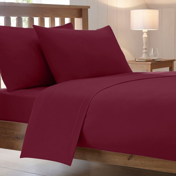BED SHEET AND BEDDING- PILLOW CASES-Burgundy