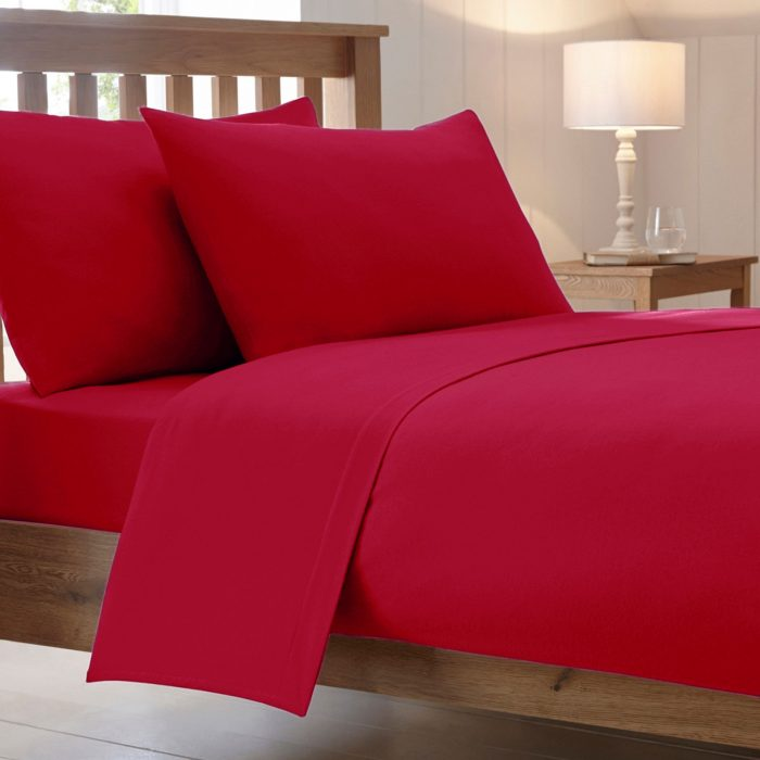 BED SHEET AND BEDDING PILLOW CASES-red