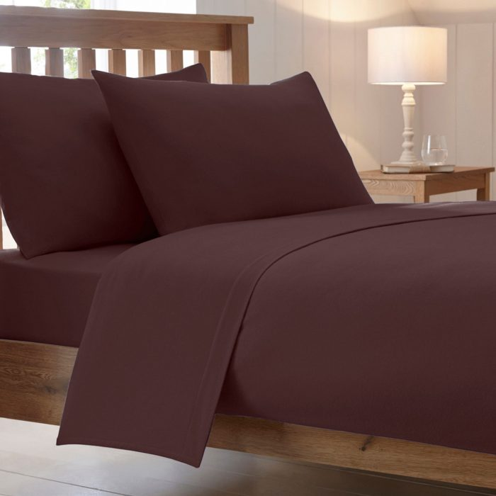 BED SHEET AND BEDDING PILLOW CASES-brown