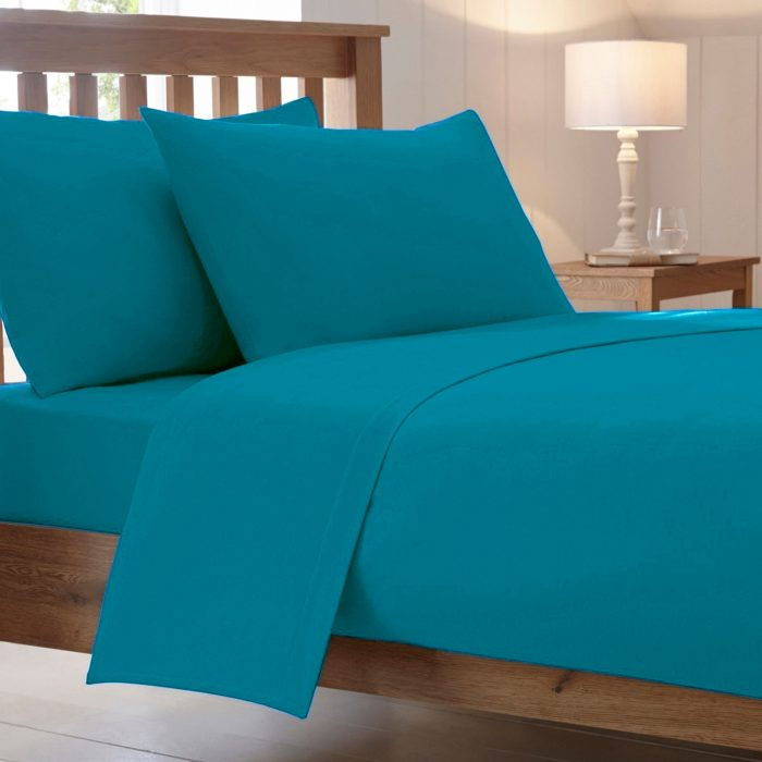 BED SHEET AND BEDDING PILLOW CASES-teal