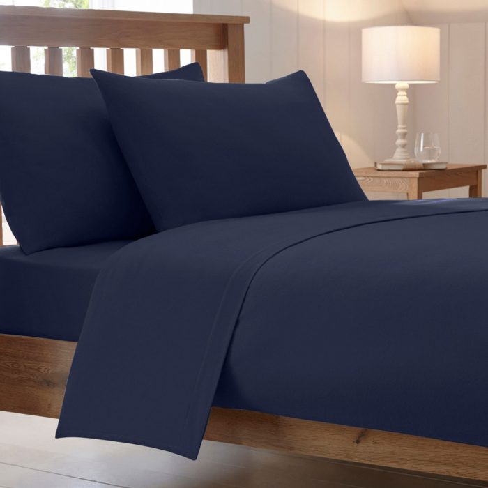 BED SHEET AND BEDDING PILLOW CASES-navy-blue