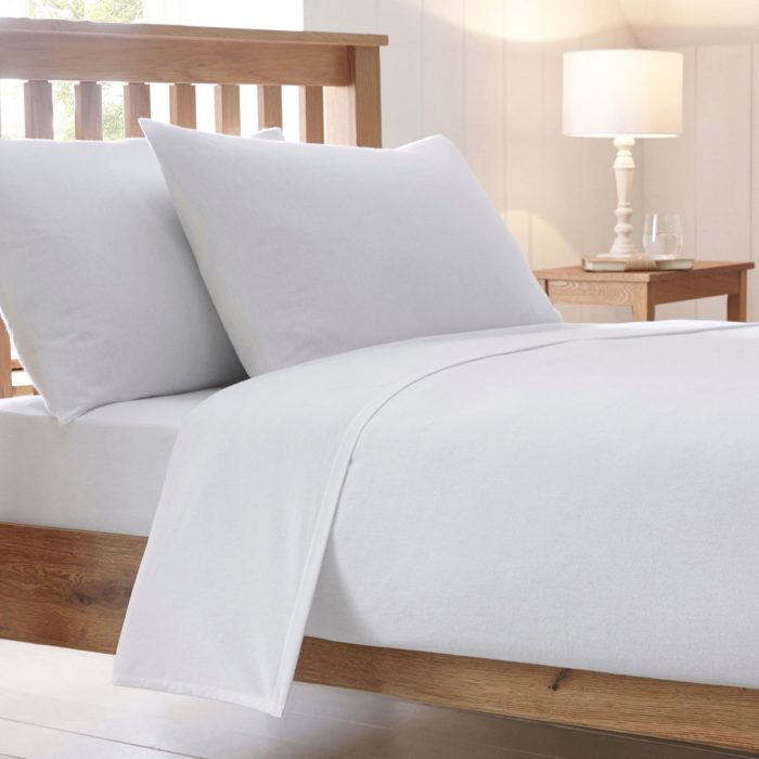 BED SHEET AND BEDDING PILLOW CASES-White