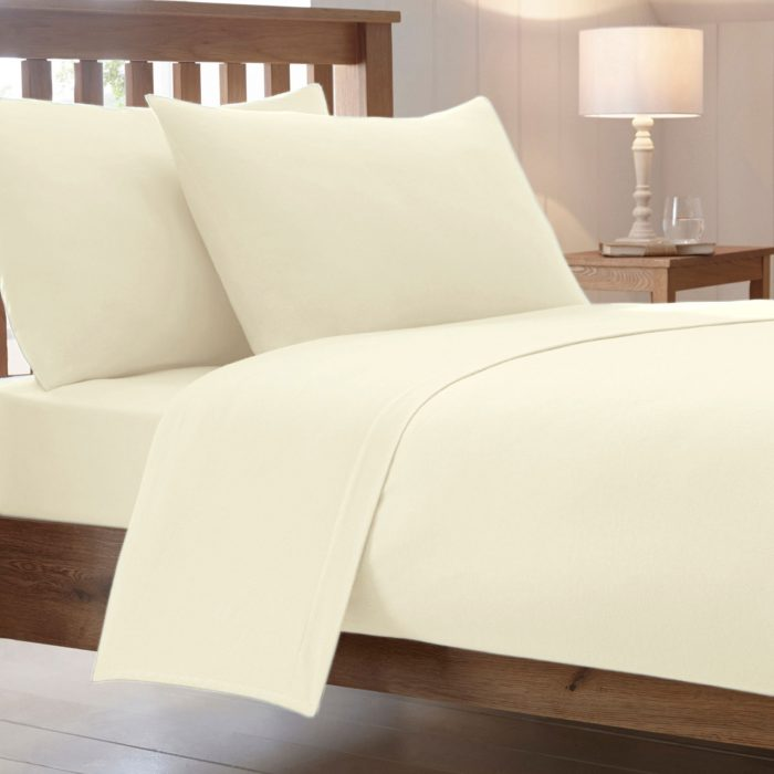 BED SHEET AND BEDDING PILLOW CASES-Cream