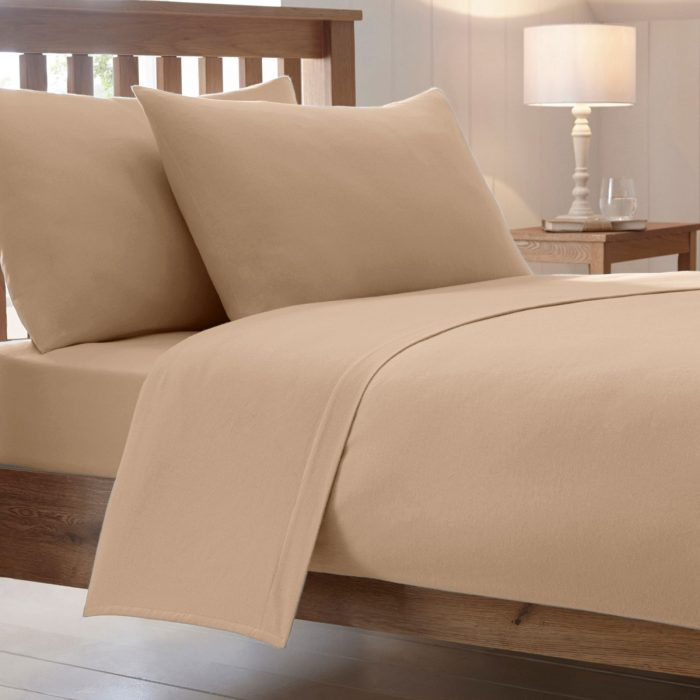 BED SHEET AND BEDDING PILLOW CASES-beige