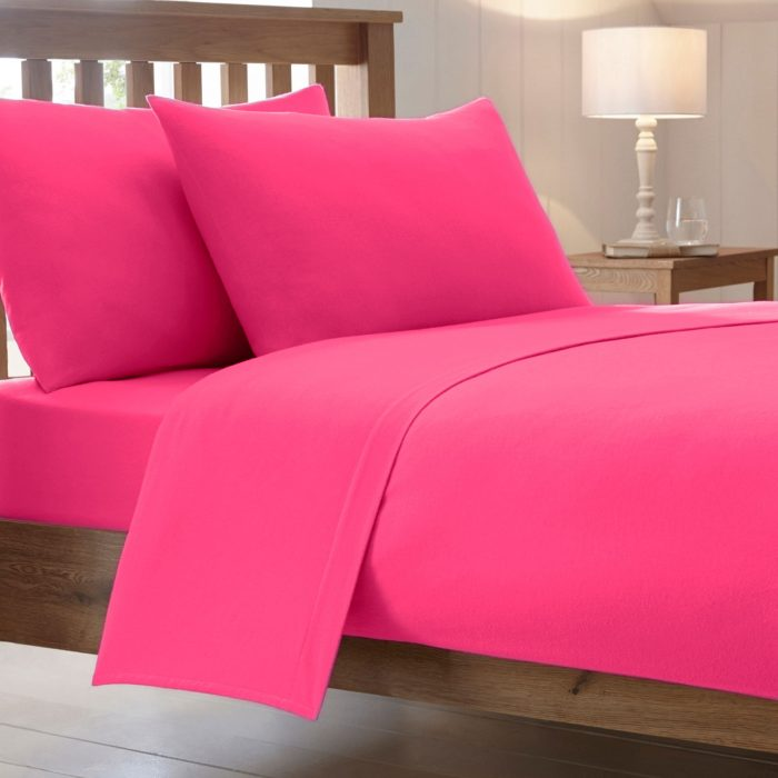 BED SHEET AND BEDDING PILLOW CASES-Fuchsia