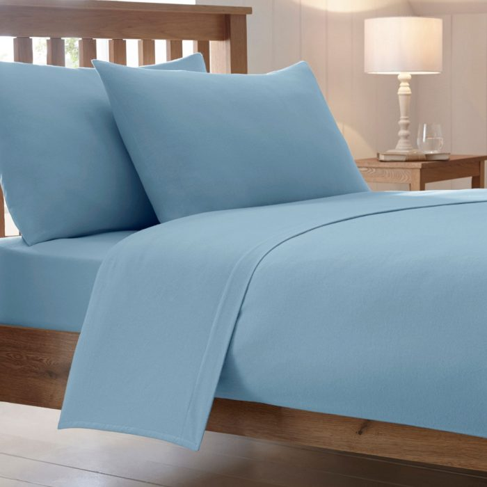 BED SHEET AND BEDDING PILLOW CASES-sky-blue